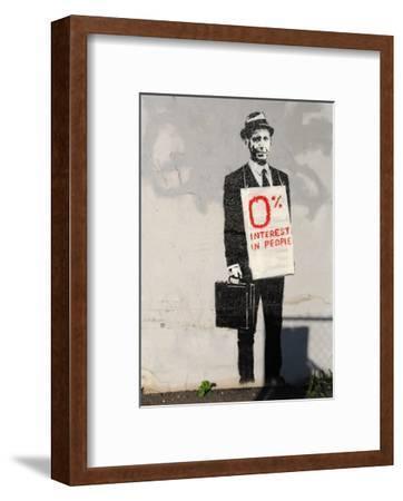 0% Interest-Banksy-Framed Art Print