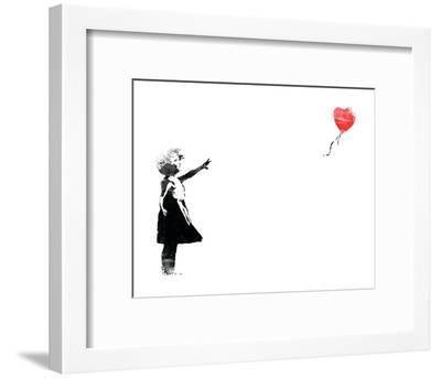 Heart Balloon-Banksy-Framed Art Print