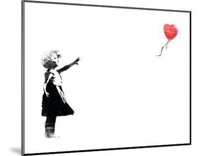Heart Balloon-Banksy-Mounted Art Print