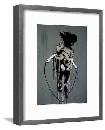 Skipping-Banksy-Framed Art Print