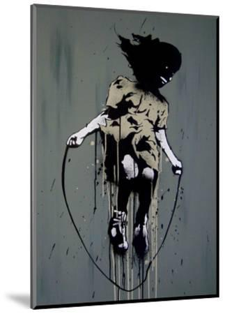 Skipping-Banksy-Mounted Art Print