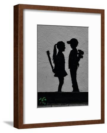 War Children-Banksy-Framed Art Print
