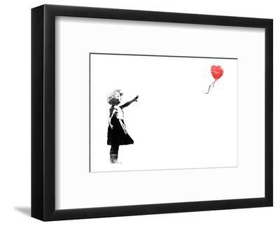 Heart Balloon-Banksy-Framed Giclee Print