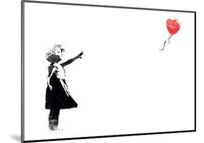 Heart Balloon-Banksy-Mounted Giclee Print