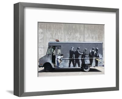 Hide-Banksy-Framed Art Print
