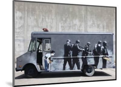 Hide-Banksy-Mounted Art Print