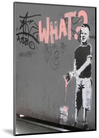 What?-Banksy-Mounted Art Print