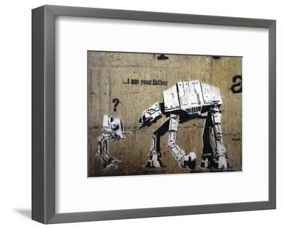 I am your father-Banksy-Framed Art Print