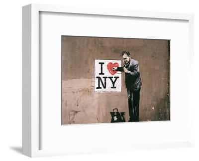 I Love NY-Banksy-Framed Art Print