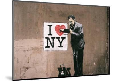 I Love NY-Banksy-Mounted Art Print