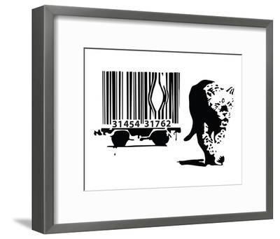 Barcode-Banksy-Framed Art Print