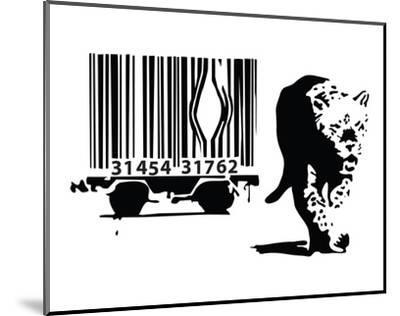 Barcode-Banksy-Mounted Art Print