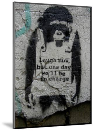 Laugh Now-Banksy-Mounted Art Print