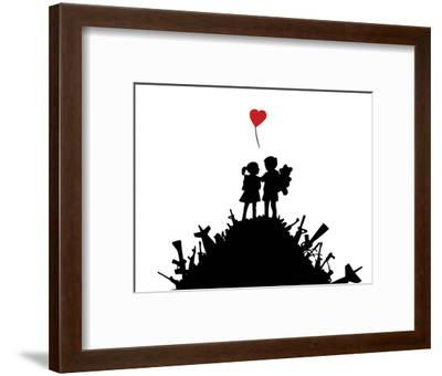 Love-Banksy-Framed Art Print