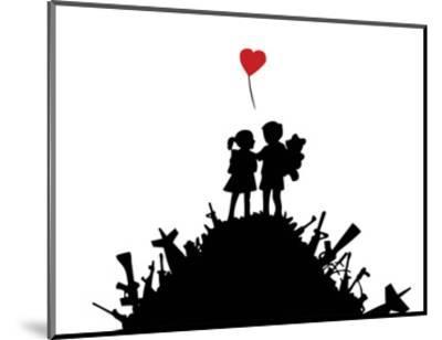 Love-Banksy-Mounted Art Print