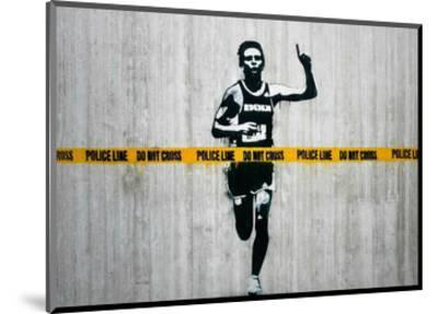 Do not cross-Banksy-Mounted Giclee Print