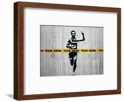 Do not cross-Banksy-Framed Giclee Print