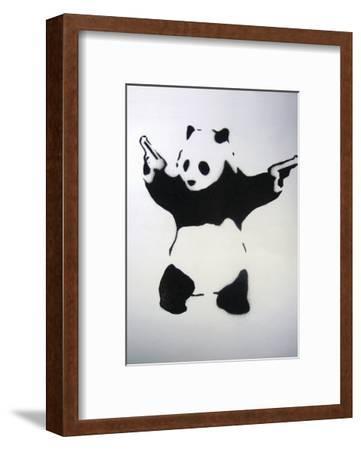 Pandamonium-Banksy-Framed Art Print