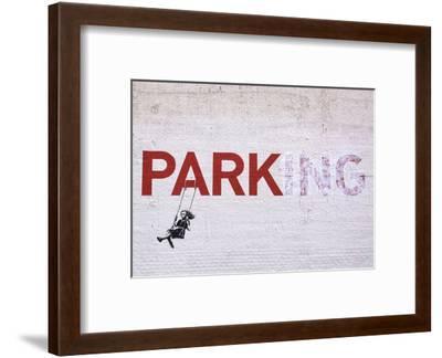 Parking-Banksy-Framed Art Print