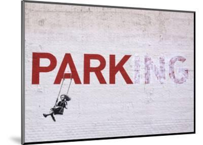 Parking-Banksy-Mounted Art Print