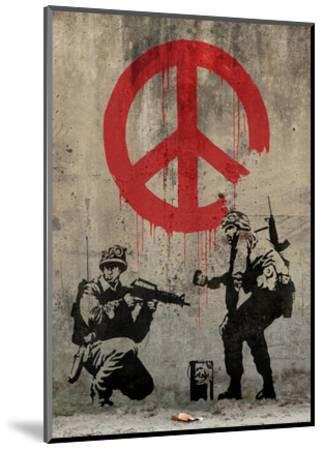 Peace-Banksy-Mounted Art Print