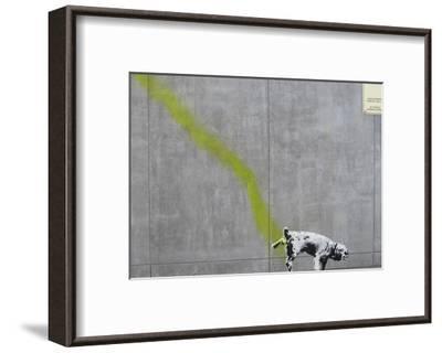Pee-Banksy-Framed Art Print