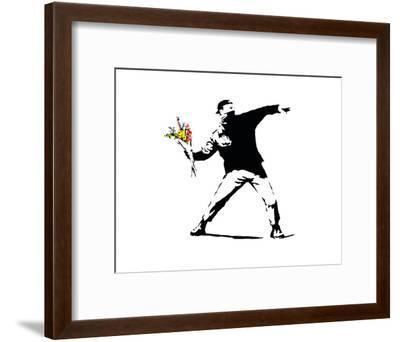 Flower Chucker-Banksy-Framed Art Print