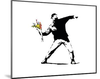 Flower Chucker-Banksy-Mounted Art Print