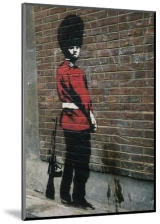 Pissing Soldier-Banksy-Mounted Art Print
