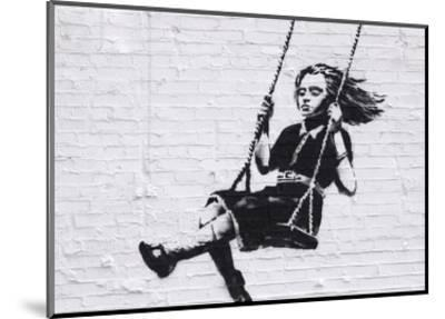 Girl on a Swing-Banksy-Mounted Art Print