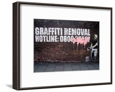 Graffiti Removal-Banksy-Framed Art Print