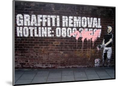 Graffiti Removal-Banksy-Mounted Art Print