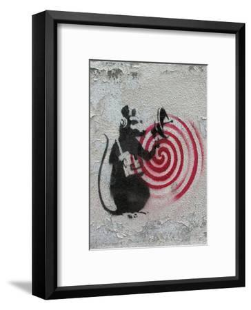 Rat radar-Banksy-Framed Art Print