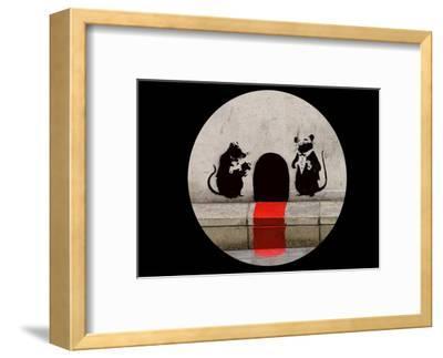 Red Carpet Rats-Banksy-Framed Art Print