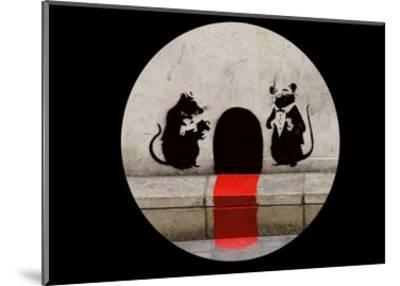 Red Carpet Rats-Banksy-Mounted Art Print