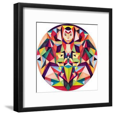 In The Middle Of Something (2)-Anai Greog-Framed Art Print