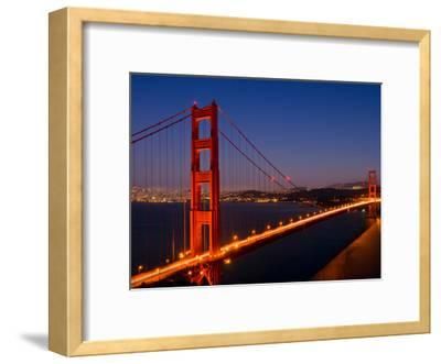 Golden Gate Bridge In The Evening-Melanie Viola-Framed Art Print