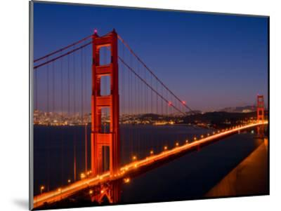 Golden Gate Bridge In The Evening-Melanie Viola-Mounted Art Print