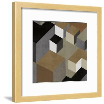 Cubic in Neutral II-Todd Simmions-Framed Giclee Print