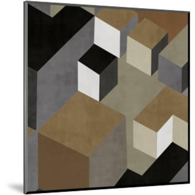Cubic in Neutral II-Todd Simmions-Mounted Giclee Print