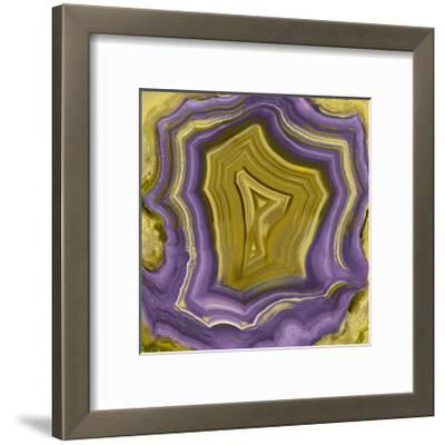 Agate in Purple & Gold I-Danielle Carson-Framed Giclee Print