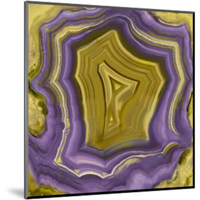 Agate in Purple & Gold I-Danielle Carson-Mounted Giclee Print