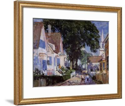 A Street In Provincetown-Gifford Beal-Framed Art Print