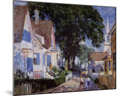 A Street In Provincetown-Gifford Beal-Mounted Art Print
