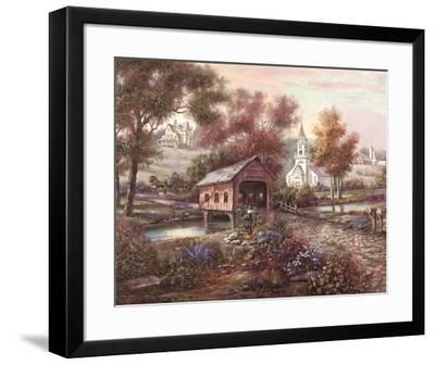 Razzberry Creek Crossing-Carl Valente-Framed Art Print