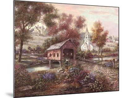 Razzberry Creek Crossing-Carl Valente-Mounted Art Print