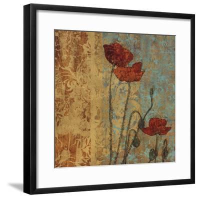 Poppy Pattern I-Eloise Ball-Framed Art Print