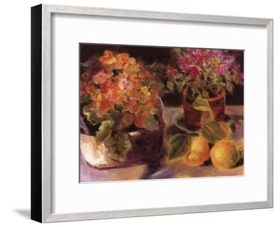 Primrose l-Shari White-Framed Art Print