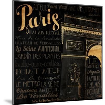 The Right Side of Paris-Jace Grey-Mounted Art Print