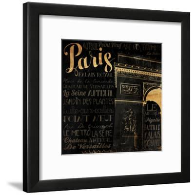The Right Side of Paris-Jace Grey-Framed Art Print